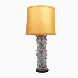 Mid-Century Rosewood & Glass Table Lamp from AB Karlstrand & Eifel, 1960s
