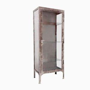 Polished Metal Medical Cabinet, 1950s