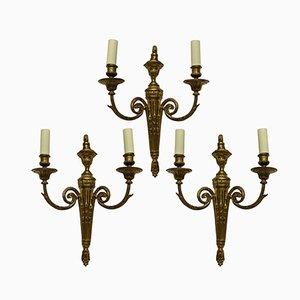 Antique Louis XVI Style Sconces, Set of 3