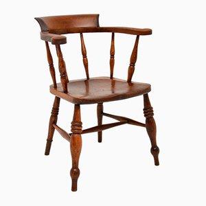 Chaise Windsor Victorienne Antique en Orme