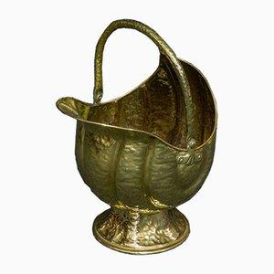 Victorian Brass Coal Helmet
