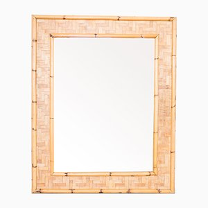 Vintage Bamboo Mirror, 1970s