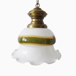 Deckenlampe aus Muranoglas & Messing von Peill & Putzler, 1970er
