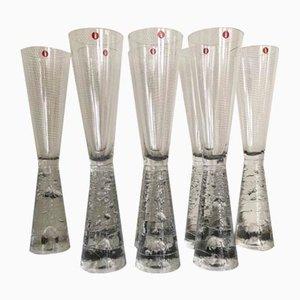 Vintage Finnische Archipelago Champagnergläser von Timo Sarpaneva für Iittala, 8er Set