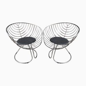 Mid-Century Lounge Chairs by Gastone Rinaldi for Panam, 1965, Set of 2