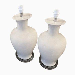 Vintage Keramik Tischlampen von Inconnue, 1980, 2er Set
