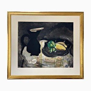 Georges Braque, 20ème Siècle, Pichet Noir et Citron, Couleur Gravure