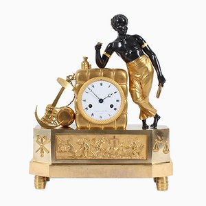 Antique French Empire Mantel Clock by Michel for Lefevre, 1810