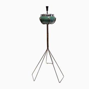 Brass, Green Metal & Chrome Roulette Ashtray, 1960s