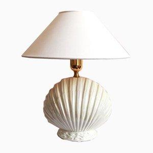 Conchiglia Ceramic Shell Table Lamp, Italy, 1970s