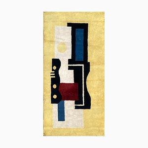 Tappeto Pad 9 giallo vintage di Fernand Leger, anni '40