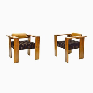 Vintage Artona Armchairs by Tobia & Afra Scarpa for Maxalto, Set of 2