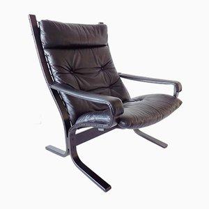 Black Siesta Lounge Chair by Ingmar Relling for Westnofa, 1960s