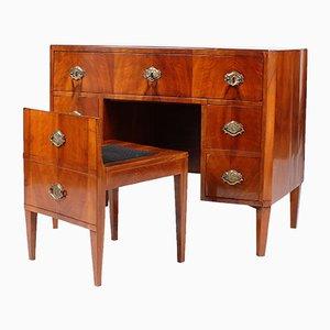 Antiker Biedermeier Schreibtisch aus Nussholz, 1810