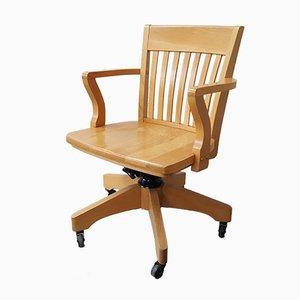 Vintage Wooden Desk Chair