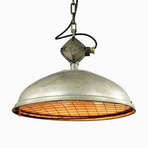 Industrial TGL 56-532 Pendant Lamp on Chain from SLF, 1950s