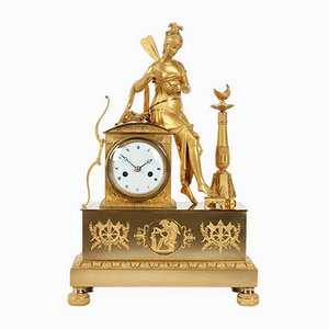 Antique French Empire Style Bronze Clock, 1820