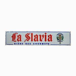Große emaillierte Slavia Tafel von Public Régie Amiens, 1940er