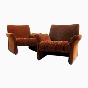 Living Room Set by Vico Magistretti for C&B Italia, 1960s, Set of 2