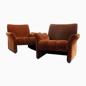 Living Room Set by Vico Magistretti for C&B Italia, 1960s, Set of 2