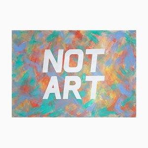 Ryan Rivadeneyra, Not Art, Kalligrafie Wandmalerei, Acrylrot und Grün, 2021