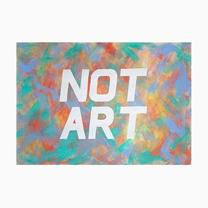 Ryan Rivadeneyra, Not Art, Word Art Calligraphy Painting, Acrylic Red and Green, 2021
