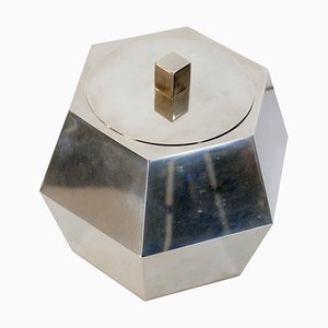 Mid-Century Italian Hexagon Chrome Ice Bucket