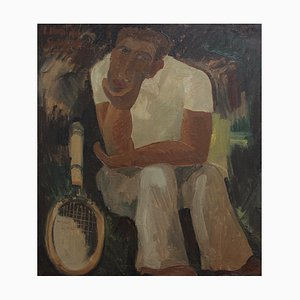 The Tennis Player by Louis Van De Spiegele, 1930s