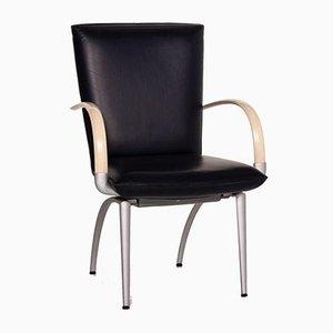 Blauer Cremefarbener Leder Stuhl von Rolf Benz