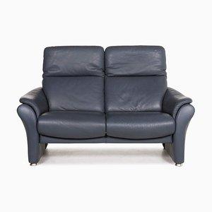 Ergoline Blue Leather Sofa by Willi Schillig