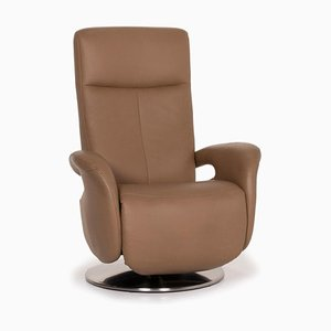 Hukla Leather Armchair Beige Relax Function