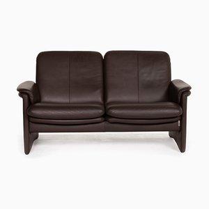 Erpo City Dark Brown Leather Sofa