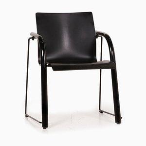 Thonet S320 Black Wood Chair