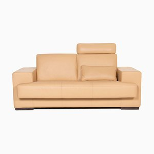 Beige Leather Sofa by Rolf Benz