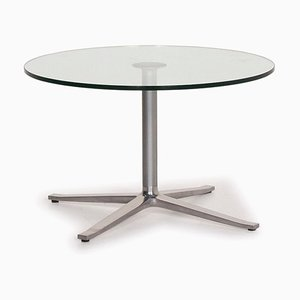 X-Table Silver and Glass Table by Walter Knoll