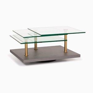 K505 Glass Gray Coffee Table by Ronald Schmitt