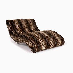 Brown Leopard Pattern Lounge Chair