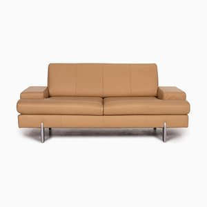 AK 644 Beige Leather Sofa by Rolf Benz