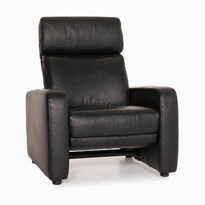 Black Leather Armchair by Ewald Schillig