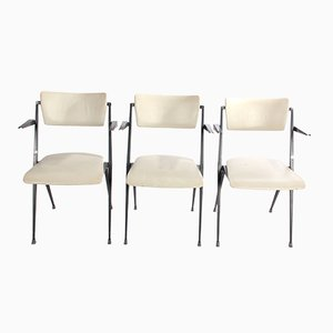 White Pyramid Chairs by Wim Rietveld for Ahrend de Cirkel, 1964, Set of 3