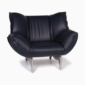 Leolux Tango Blue Leather Armchair