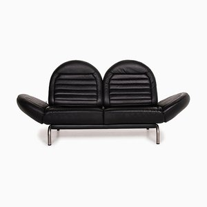 De Sede DS 455 Black Leather Sofa