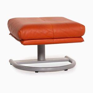 Orange Terracotta Leather Stool from Koinor