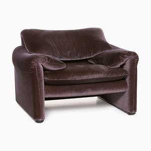 Maralunga Aubergine Purple Armchair from Cassina