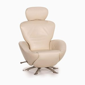 Dodo Cassina Cream Leather Armchair by Toshiyuki Kita