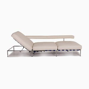 Free Time White Leather Daybed by Antonio Citterio for B&B Italia