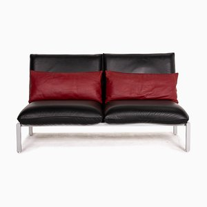 Roro Black Leather Sofa from Brühl & Sippold