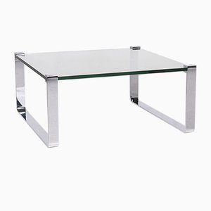 Glass and Silver Coffee Table by Ronald Schmitt