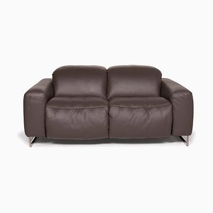 Cubic Brown Leather Sofa from Joop!
