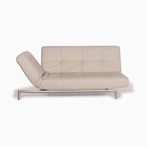 Smala Beige Leather Sofa from Ligne Roset